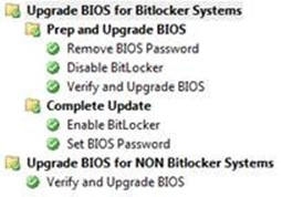 Deploying Dell BIOS Updates with and without Bitlocker
