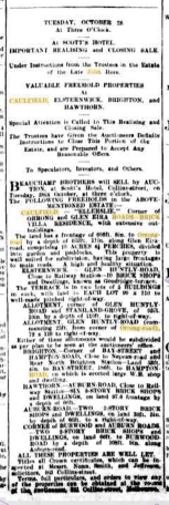 With thanks to Andrew Hore at Bowna who found this on Trove, and passed on by Terry Hore, as feaured in The Argus on Monday 27th October 1902 at the bottom half of page 2 in column two.