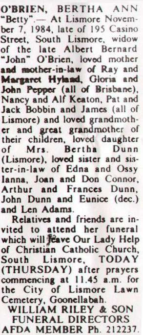 Mum funeral announcemet