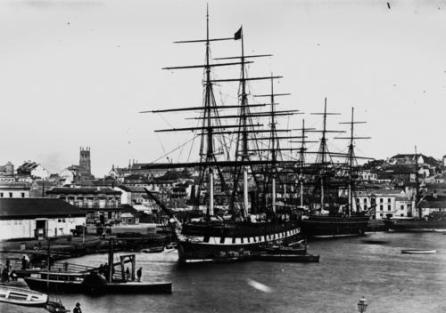 """James, Mary and their children travelled to Australia from Liverpool, England, on the clipper ship, """"Great Victoria"""" arriving in Melbourne on arrived in Melbourne on September 8, 1864."""