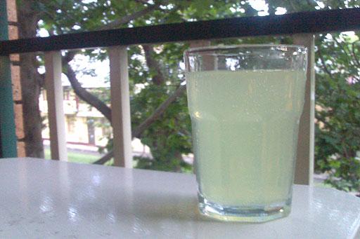 Vodka Lime & Soda - an early summer balcony treat.