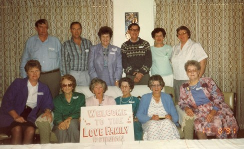 With thanks to Lyle Cooper, here is a photograph of a Love Family reunion held in Bundaberg, Queensland commemorating 200 years since their arrival in Australia.