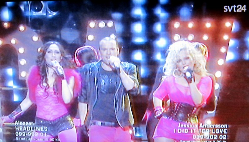 Alcazar perform on Melodifestivalen