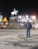 Malmo city square at night