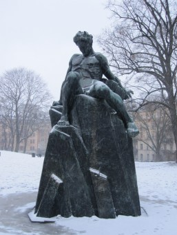 Statue in the park across from where I am staying