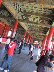 Inside one of the halls