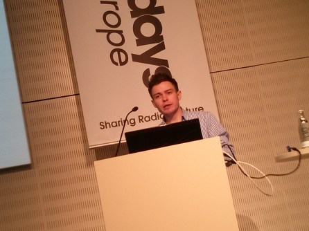 James Dickie, Research Manager, Other Lines of Enquiry, speaks at Radio Days Europe