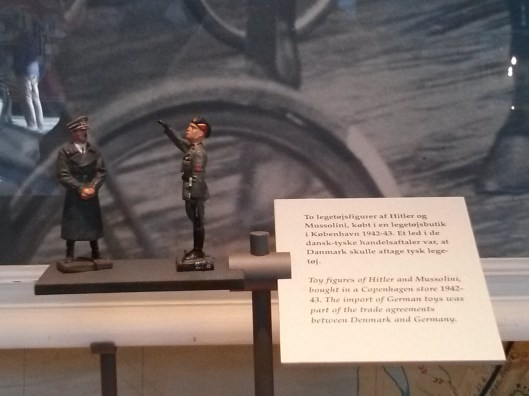 Hitler and Mussolini children's toys in the Museum of Danish Resistance