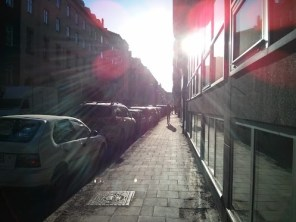 Late afternoon sun on Surbrunnsgatan in Stockholm