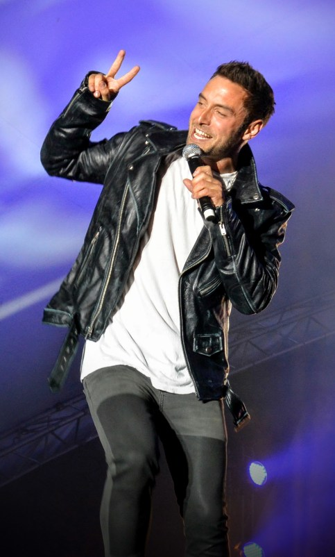 Måns Zelmerlöw at Stockholm Pride
