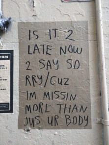 These simple, thoughtful posters have been appearing around Surry Hills and Darlinghurst in Sydney.