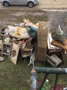 Throwing out, Lismore flood 2017