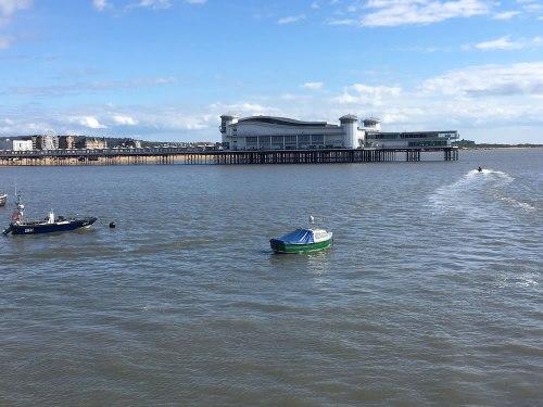 Grand Pier in the sea at Weston-super-Mare