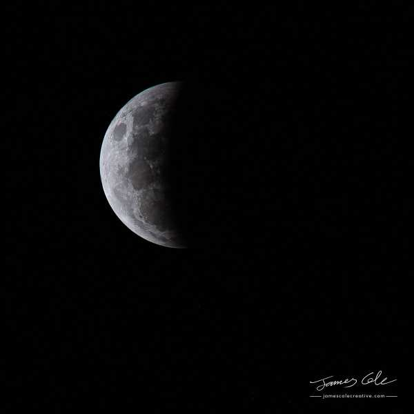 Crescent moon from the May 26th Lunar eclipse Melbourne