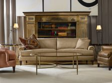 Lee Industries Leather Chairs and Sofa with Coffee Table