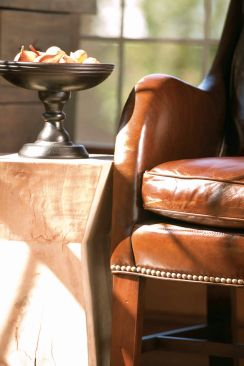 Lee Industries Leather Chair (detail)