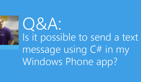 Send text message from Windows Phone