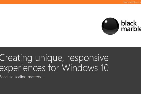 Creating unique, responsive experiences for Windows 10