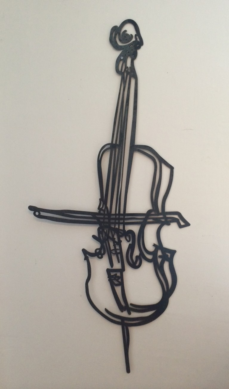 cello sculpture