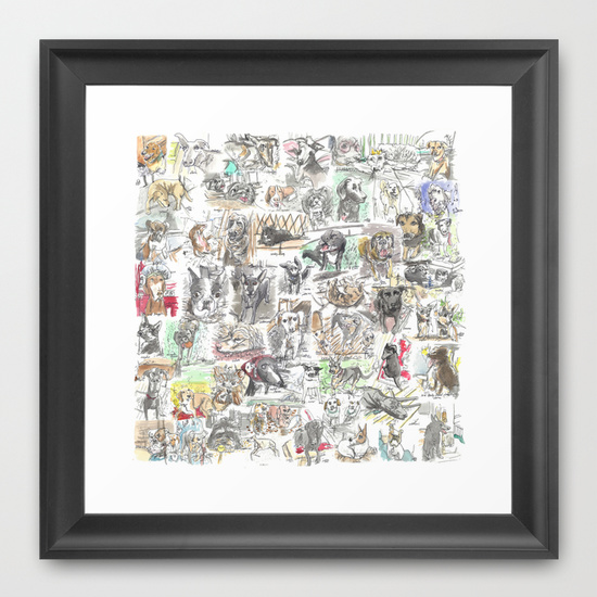 dog print with frame