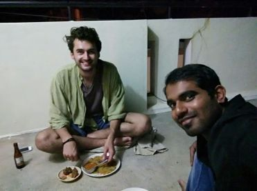 Rooftop dinner with my Indian pal NK, Mysore