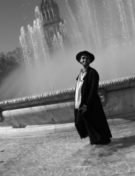 Dancing in a fountain, Seville.