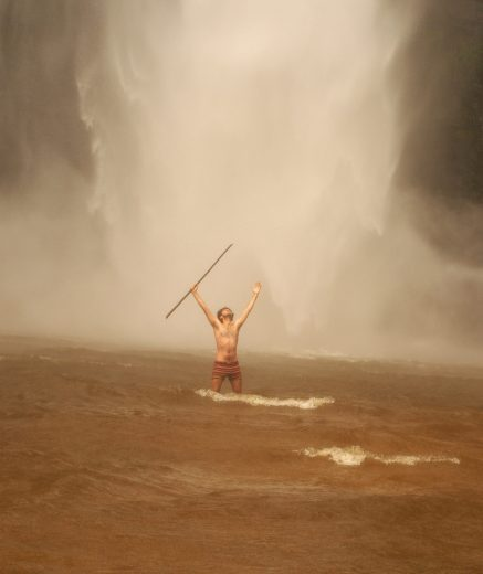 in the might of the Wli Waterfalls.