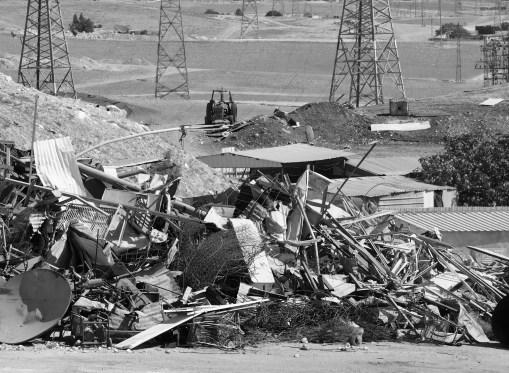 one of demolished remains at Unrecognised Village
