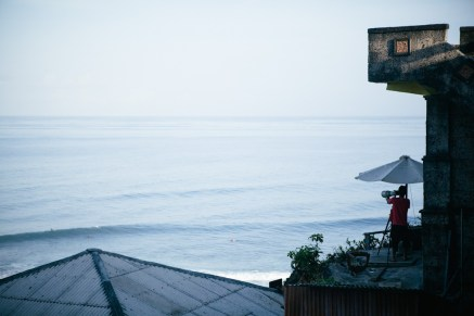A local photographer shooting images of Surfers catching some waves.