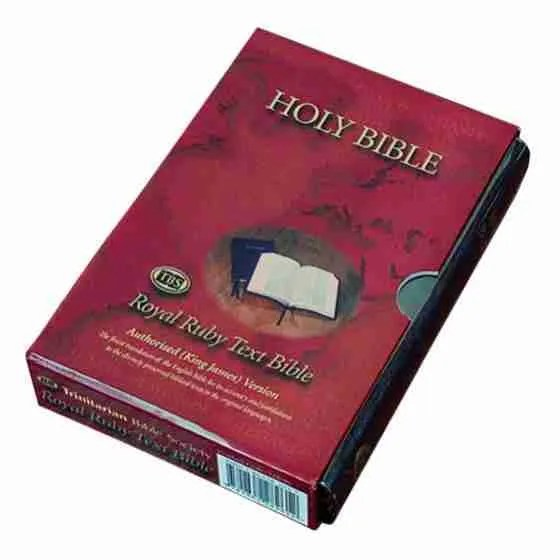 Bonded Leather Holy Bible King James Version KJV AV Christian Scriptures Christianity
