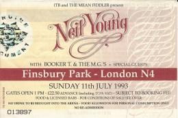 1993-07-11-Finsbury-Park-ticket