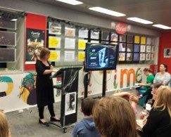 Karen Blair launching the book