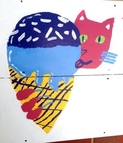 cat eating an icecream, final version