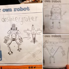 Robot designs, Goollelal PS students