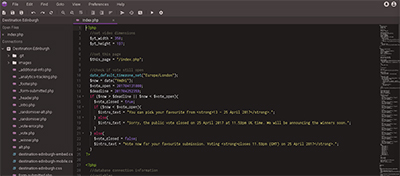 Codeanywhere interface