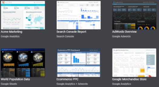 Data Studio templates