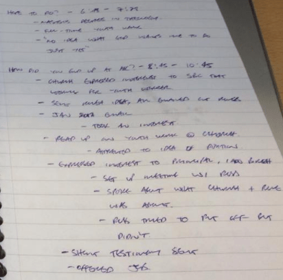 Kirsty video notes