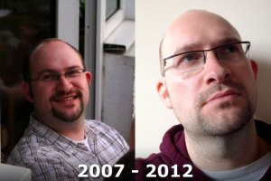 Me in 2007 and 2012