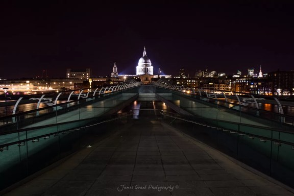 Millenium Bridge - St Pauls Cathedral - London