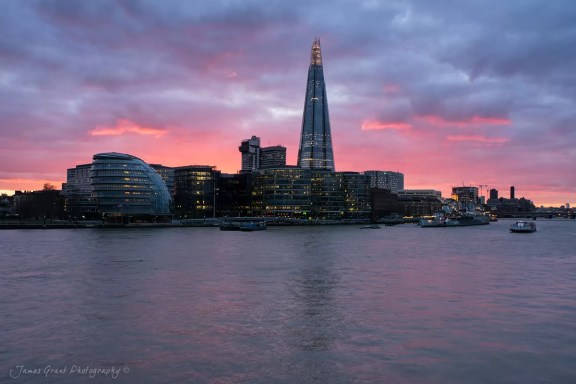 Shard Sunset - London