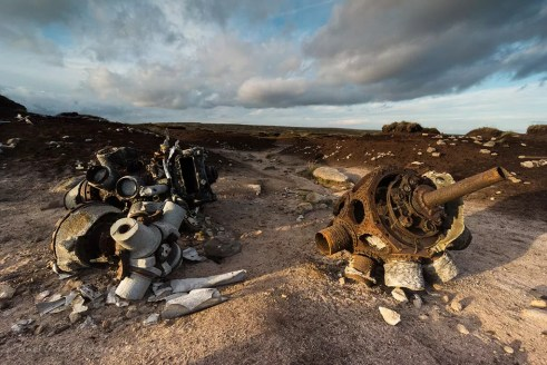 B29 Super Fortress Crash Site Sunset - Bleaklow - Peak District Photography