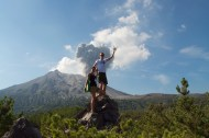 Eruption posing.