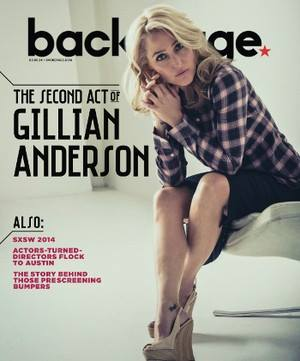 Gillian Anderson cover by James Hickey for Backstage Magazine 2014
