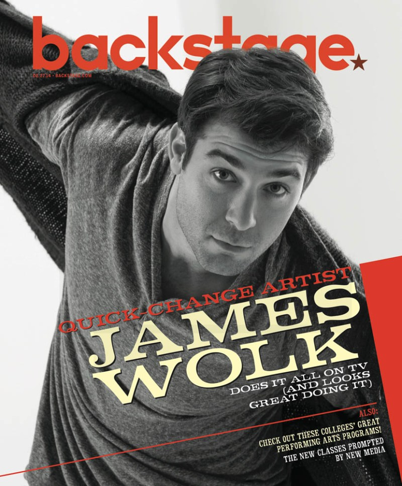 James Wolk on the cover of Backstage Magazine. Photo by James Hickey.