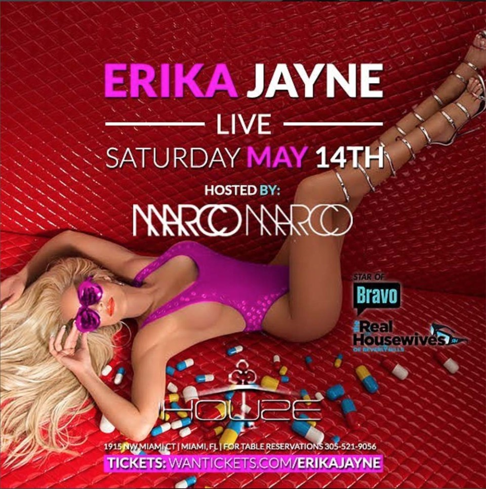 Erika Jayne concert poster by Music Photographer James Hickey
