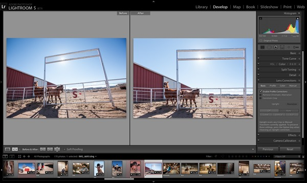 Adobe Lightroom 5 upright