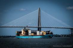 Cargo Ship in the Charleston Harbor