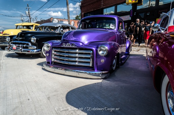 Slammed Purple GMC Truck