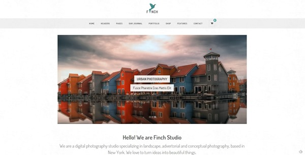 Finch – Photography & Magazine WordPress Theme