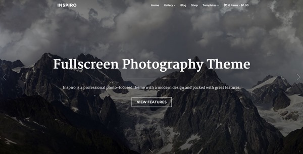 Inspiro Fullscreen Photography Theme